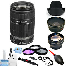 canon ef-s 55-250mm f/4-5.6 is ii objektiv!!! mega bundle nagelneu!!!
