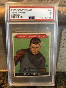 1933 Sport Kings Gene Tunney Boxing PSA 1