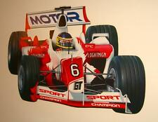 Teen Childrens Kids Bedroom Boys F1 Formula One Racing Car Wall Stickers Decals