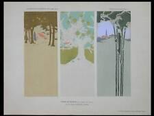 PAYSAGES ART NOUVEAU, POCHOIR -1906- HENRI SIMMEN