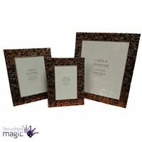 *Gisela Graham New Copper Embossed Metal Picture Photo Frame Home Ornament Gift*