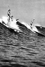 Surfing Poster, Hawaii 1930's, Longboards, Vintage, Old School Hawaiian Surfers