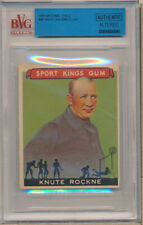 1935 National Chicle #9A Knute Rockne CO SN Authentic Altered   - BVG Vg (3)