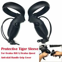 Black Protective Tiger Sleeve for Oculus Rift S/Oculus Quest Handle Grip Cover