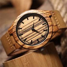 Herren Holz uhr Männer Hölzerne Uhren Junge Elektronische Armbanduhr Quarzuhren.