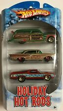 Hot Wheels Holiday Rods 3 Car Pack! Purple Passion Woodie '58 Edsel '72 Ranchero