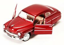 1949 Mercury Hard Top Laser Red Diecast Model Car 1:24 Scale Motor Max Die Cast
