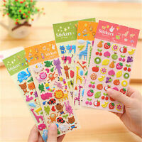 Kawaii Cartoon 3D Bubble Stickers DIY Diary Scrapbook Album Phone Sticker G$