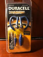 DURACELL STEREO EARHOOK HEADSET WITH MIC GDU9540, iPhone, iPod, Blackberry