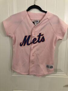 New York Mets Carlos Beltran 15 Majestic Sewn Baseball Woman Pink Jersey Medium