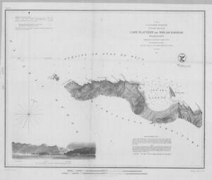 "1853 ""Cape Flattery and Neah Harbor, Washington""- Original electrotype"