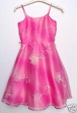 BNWT Girls Designer Elspeth Gibson Pink Party Layered Floaty Dress Age 9
