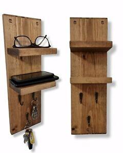Key Holder Shelf Unit Storage Vintage Key Hooks Display Gift Key Organiser