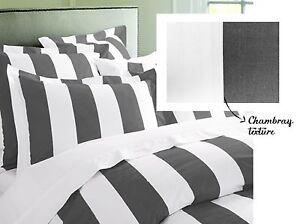 RANS Oxford Stripes Quilt Cover 3 piece Set 100% Cotton