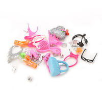 Mix Doll Accessories For Barbie Dolls Necklace Earings Combs Crown for Girls EB