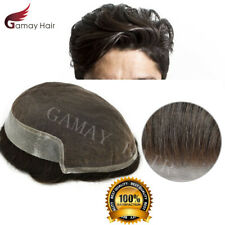 French Lace Natural Men Toupee Breathable Hairpiece Hair Replacement System BX2