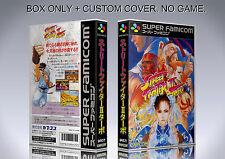 STREET FIGHTER 2 TURBO. JAPAN. Box/Case. Super Nintendo. BOX + COVER. (NO GAME).