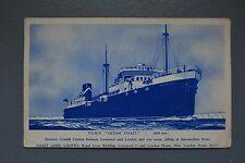 R&L Postcard: TSMV Ocean Coast (Pacific), Coast Lines