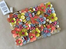 ASOS Clutch Bag/Handbag Neón Flor Floral Adorno BNWT * Nuevo *