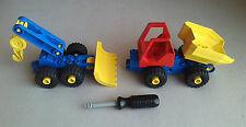 LEGO Duplo Toolo Kipper Bulldozer Radlader LKW Auto Bagger f Baustelle aus 2950