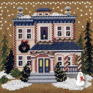 Victorian House Cross Stitch Kit Mill Hill 2006 Buttons & Beads Winter