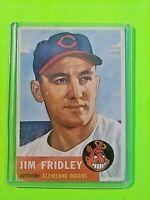 1953 Topps Jim Fridley #187, (INDIANS) VG