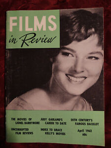 RARE Films in Review Magazine April 1962 Judy Garland Lionel Barrymore