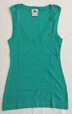 Women's Teal Blue Lacoste Sleeveless V-neck Top Sz 36 (S) EUC