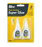 2 PACK BLOC SUPER GLUE Fast Acting Nozzle Tube extra Strong Adhesive Wood Metal
