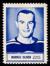 1961/62 TOPPS NHL HOCKEY INSERT STAMP Murray Oliver EX cond BOSTON BRUINS