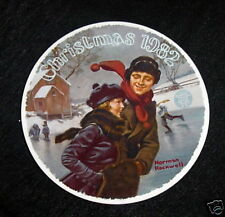 Knowles Norman Rockwell Christmas Courtship 1982 Plate 9th in Series Limited Ed