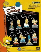 SIMPSONS DIE CUT KEYCHAINS BACKPACK ZIPPER PULLS COMPLETE SET OF 8 DIFFERENT