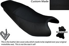 BLACK STITCH CUSTOM FITS KYMCO PULSAR 08-13 DUAL LEATHER SEAT COVER ONLY