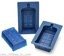 NEW Doctor WHO Licensed 2 Set TARDIS Silicone CAKE Pan Jello Mold Chocolate Dr