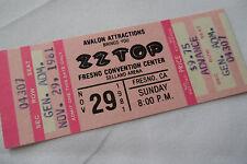 Zz Top 1981_Unused_Concert Ticket_El Loco Tour_Ex+