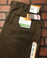 Savane Straight Fit Eco-Start Khaki Pleated Brown Men's Pants Size 38 x 30 NWT