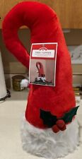 "Red Santa Hat Christmas Tree Topper 19"" Tall New Nwt"