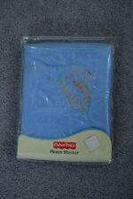 Fisher Price Fleece Dinosaur Baby Blanket Blue Orange Green NEW lovey security