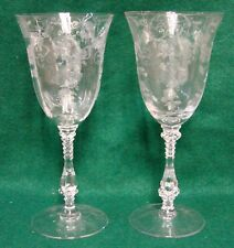 Cambridge ELAINE (3121) Water Goblets SET OF TWO Mint no BOX