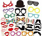 32pcs PARTY MASK PHOTO BOOTH PROPS MOUSTACHE STICK WEDDING BIRTHDAY PHOTOGRAPHY