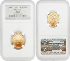 USA 2006S San Francisco Old Mint $5 Gold NGC MS70