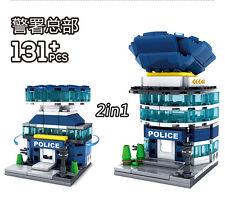 Tiny City 2IN1 Hotel De Police Building Toys Blocks Building blocks131pcs #5002