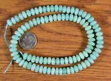 """15-3/4"""" Strand PERUVIAN AMAZONITE 7mm Rondelle Beads"""