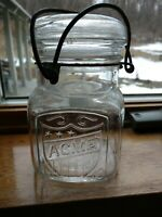 Vintage Acme Canning Jar With Lid And Bail #4 Bottom