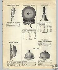 1952 PAPER AD Railroad Locomotive Gong House Alarm Door Bell
