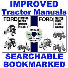 3 Vols Ford 2600 3600 4100 4600 5600 6600 6700 7600 7700 Tractor Service Manuals