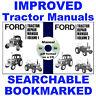 3 Vols Ford 2600 3600 4100 4600 5600 6600 6700 7600 7700 Tractor Service Manuals