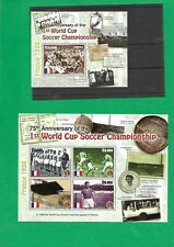 GHANA 75th ANNIVERSARY WORLD CUP SOCCER  sheet +block  stamps **MNH