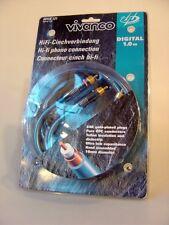 5 x Vivanco digitales HiFi Audio Chinch Kabel / Cable 24K Gold, 1 m, hochwertig