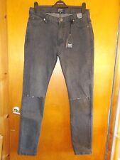 """D-Struct sería Runas De Algodón Rico Skinny Jeans Con Estirar W34"""" L31"""" Gris BNWT"""